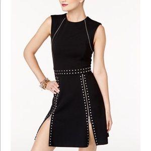 Michael Kors Studded Zipper Trim Dress